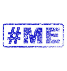 hashtag me rubber stamp vector image