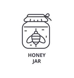 honey jar line icon outline sign linear symbol vector image