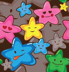 star smiles seamless background vector image vector image