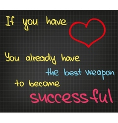 Success words vector image vector image