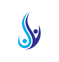 swirl human success logo image vector image vector image