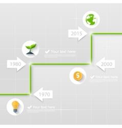 Timeline business concept vector