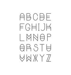 Trendy Thin Line Font Golden Proportion Serif vector image vector image