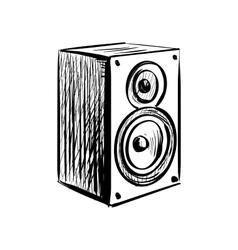 Doodle speaker icon vector image vector image