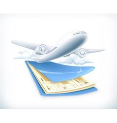 Flights vector image