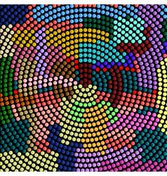 Futuristic abstract mosaic vector image