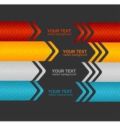 Arrow speech templates for text vector