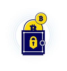bitcoin is kept safe trend in a flat vector image vector image