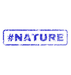 hashtag nature rubber stamp vector image vector image