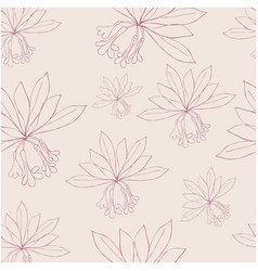 seamless pattern with rododendron flowers and vector image vector image