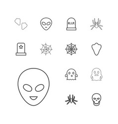 13 horror icons vector