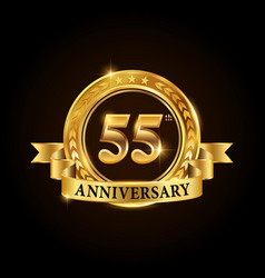 55 years anniversary celebration logotype vector image