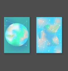 abstract bright turquoise cosmic backgrounds vector image