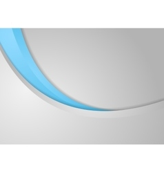 Abstract corporate blue grey wavy background vector image