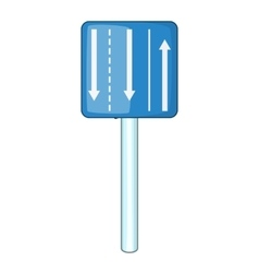 Appropriate traffic lanes icon cartoon style vector