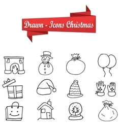 Art of Christmas icon set vector