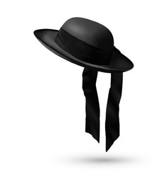 black breton mens hat vector image