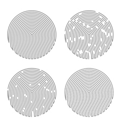 Black Isolated Fingerprint vector image