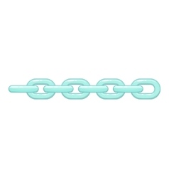 Chain icon cartoon style vector