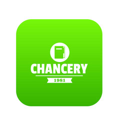 chancery icon green vector image