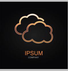 clouds sky icon design logo element vector image