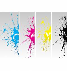 CMYK splat vector image