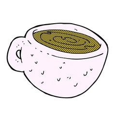 comic cartoon coffee cup vector image