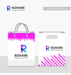 Company shopping bags design with stylish look vector