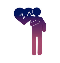 Coronavirus covid 19 people heartbeat health vector
