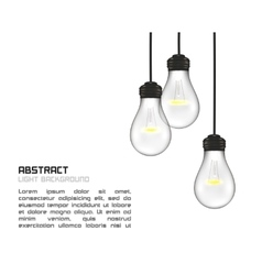 Creative design of nature lamps vector