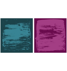 Dark cyan and dark pink grunge textures vector