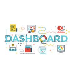 dashboard word vector image
