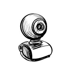 Doodle web cam vector
