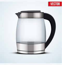 Electric glass kettle vector