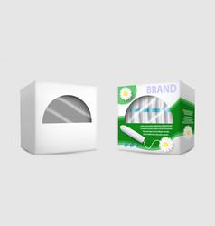 feminine hygiene tampon packaging box mockup set vector image