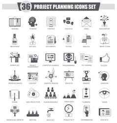 Finance business Project planning black vector