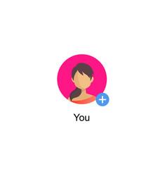 Follower notification social media icon vector
