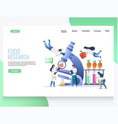 food research website landing page design vector image