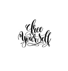 Free yourself - hand lettering inscription vector
