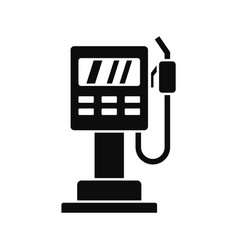 fuel pump station icon simple style vector image