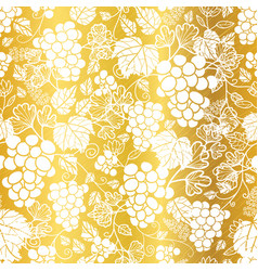 Golden and white grapevines fruit repeat vector