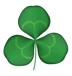 green clover logo eps 10 vector image
