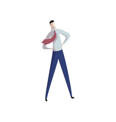 happy businessman on white background business vector image