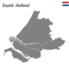 high quality map province of netherlands vector image