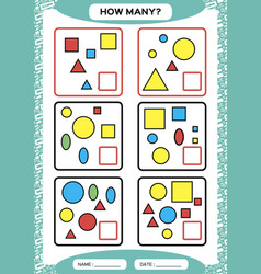 how many counting game for preschool children vector image