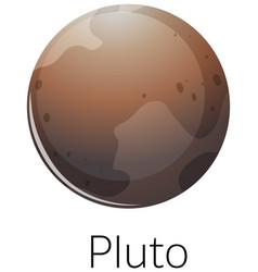 Isolated pluto on white background vector