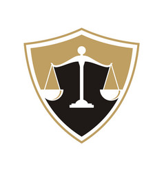 law firm logo vector image