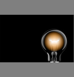 light bulb lamps on a colour background vector image