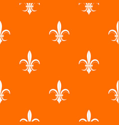 Lily heraldic emblem pattern seamless vector