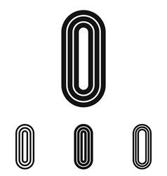 Line letter i logo design set vector